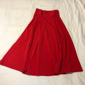 Unbranded Red A-Line Skirt